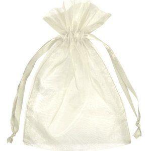 3  Packs Organza Fabric Bags 10 ea IVORY 1…
